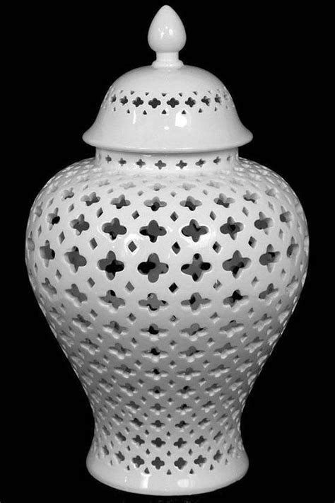 Carthage White Pierced Lantern