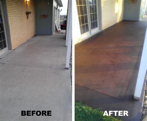 front porch stained concretea definate