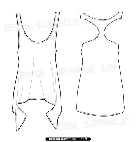 tank top body template hellovector