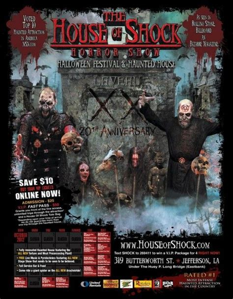 house of shock pin by funtober on haunted attractions pinterest