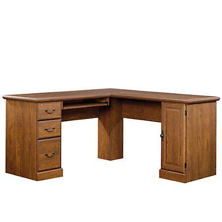 sauder orchard corner computer desk sauder orchard corner computer desk milled cherry by