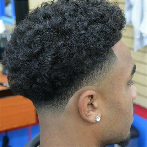 curly temple fade haircut curly afro taper fade www pixshark com images