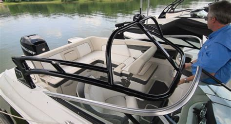 deck boat wake tower lowe deck boat wake tower pictures pictures to pin on
