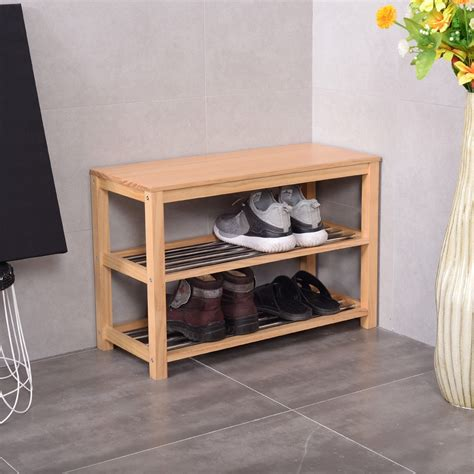 wooden shoe storage bench 3 tier wooden shoe rack storage bench storage entryway