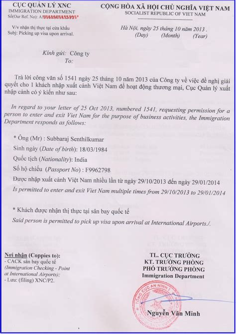 Invitation Letter For Visa To India Visa For Indian Citizenship Visa To For
