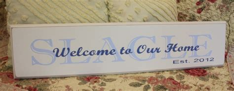 House Gift Welcome To Our Home Custom Family Sign Perfect Gift For