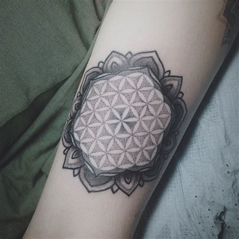 sempiternal tattoo black ink flower of on arm