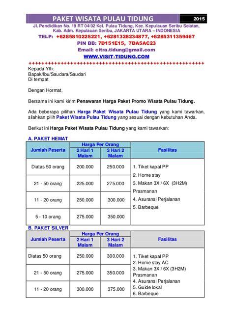 Paket Puyama Size 1 5 paket promo wisata pulau tidung murah 2015