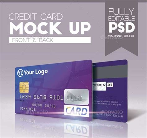 44 Best Free Credit Card Mockup Psd Templates Credit Card Design Template
