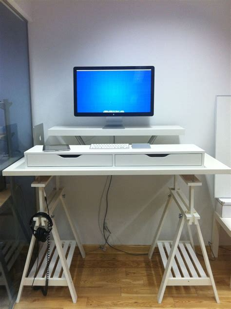 Stand Up Desk Ikea Hack 10 Ikea Standing Desk Hacks With Ergonomic Appeal Desks Amon And Shelves