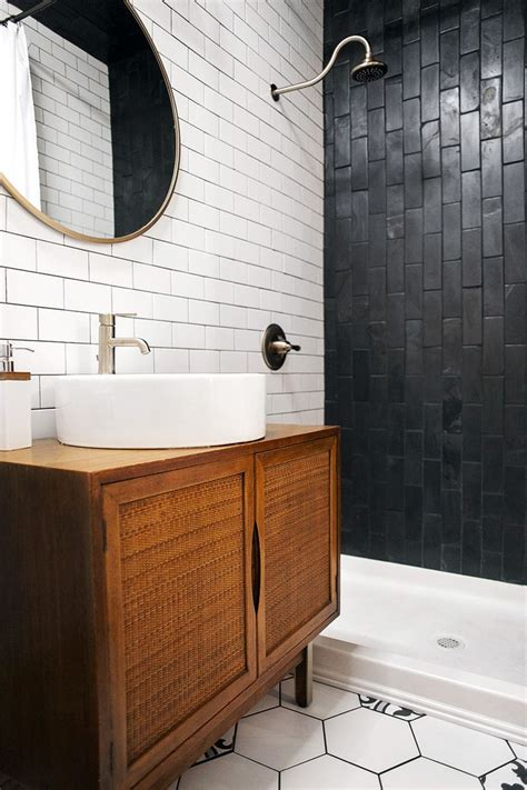 bathroom ideas subway tile best 10 black tile bathrooms ideas on white