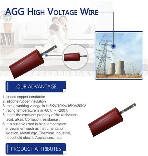 high voltage silicone rubber wire agg silicone rubber insulation high voltage wire for
