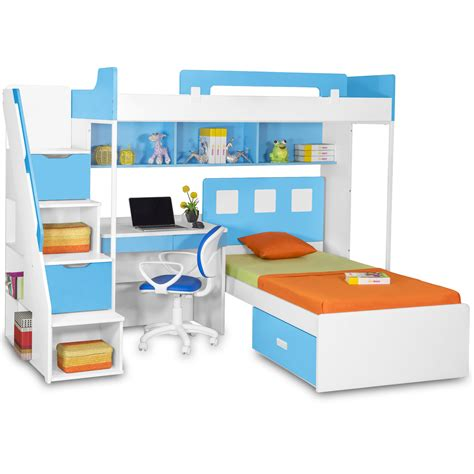 study bed milano bunk bed with study table chair kids bunk beds