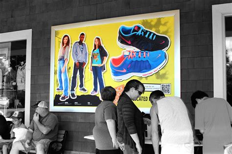 rack room shoes myrtle beach mall blue outdoor outdoor advertising at its best