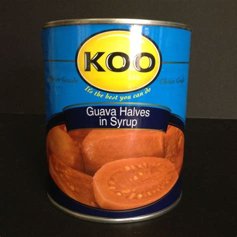 Wilmond Halves In Syrup Canned 187 koo guava halves in syrup 825g can