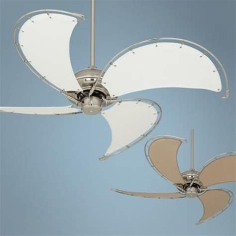 canvas blade ceiling fan 52 quot aerial brushed nickel canvas blade ceiling fan