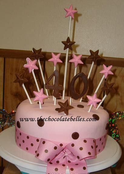 pink brown fondant  birthday cake