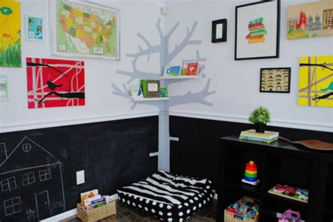 colorful playroom design with chalkboard walls kidsomania
