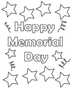 11 coloring pictures memorial day print color craft