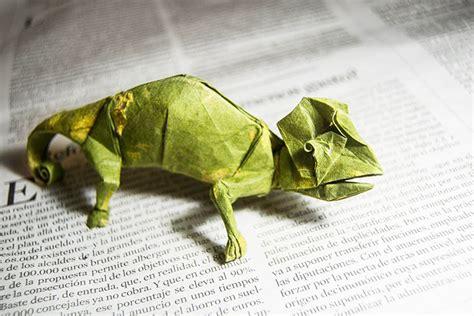 Origami Chameleon - origami chameleon bored panda