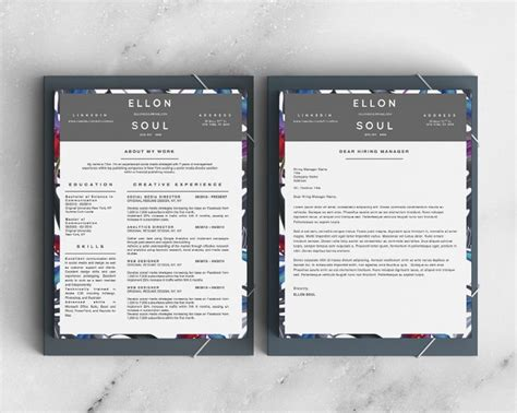 Resume Zip File 17 Best Images About Elllon Soul Resume Design For Ms Word 5 Pack On Shops