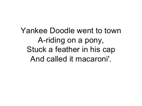 why did yankee doodle name his feather macaroni yankee doodle