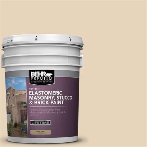 behr premium plus 5 gal ms 20 hacienda elastomeric masonry stucco and brick paint 06805 the