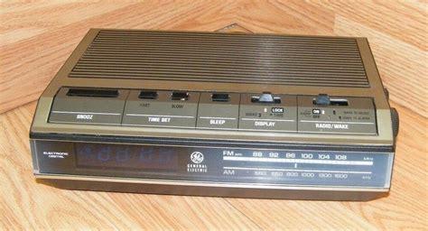 vintage genuine ge 7 4642a electronic digital am fm alarm clock radio read ebay