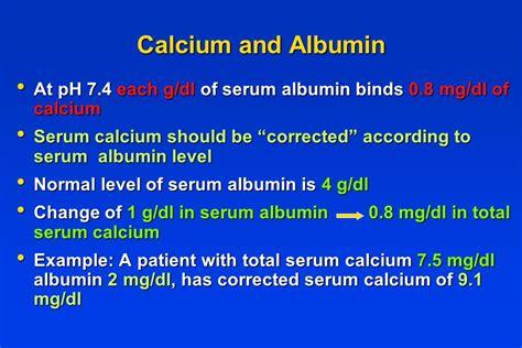 Vitamin Albumin disorders of calcium metabolism ppt