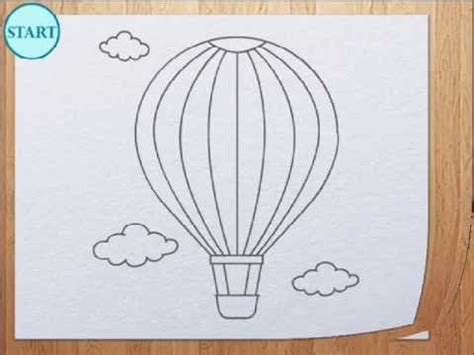 Hw Button Simple how to draw air balloon