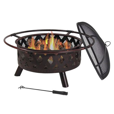 outdoor wood burning pit grill new outdoor 30 quot metal wood burning pit w grill