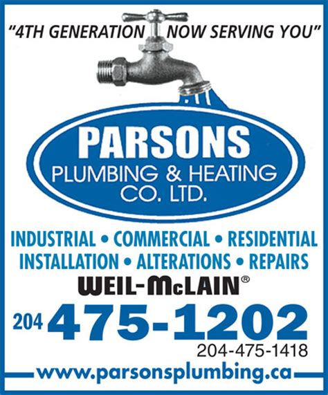 Parsons Plumbing Winnipeg by Ads Parsons Plumbing Heating Cooling Electrical