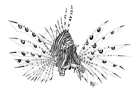 lionfish tattoo designs lionfish clipart 19