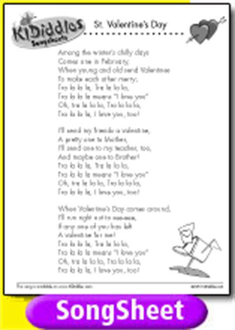 valentines songs lyrics song sheet