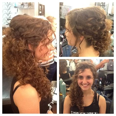 Prom Hairstyles For Naturally Curly Hair by Curly Hair Swept To The Side Wedding Hair By