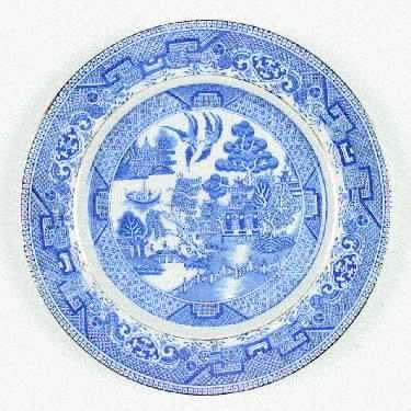willow pattern with gold trim myott staffordshire willow blue gold trim at