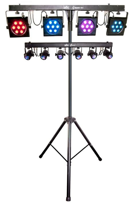 led stage lighting kit chauvet dj 4bar tri usb 6 spot led stage light kit bar