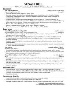 political science resume sample resumes design