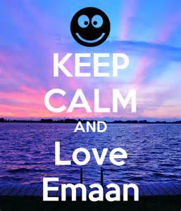 Wall Stickers Personalized keep calm and love emaan keep calm and carry on image