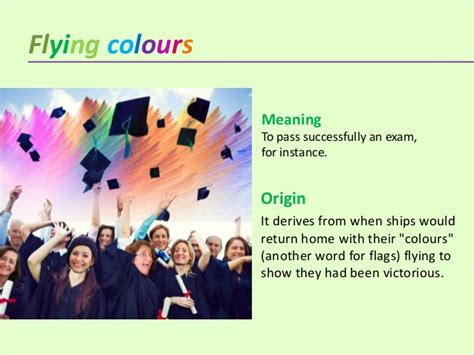 flying colors meaning colour idioms