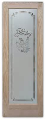 Glass Etched Pantry Door by Etched Glass Pantry Doors Sans Soucie Glass