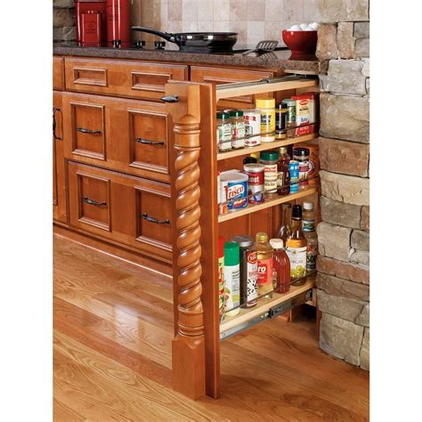 kitchen cabinet organizers home depot rev a shelf 30 in h x 6 in w x 23 in d pull out between cabinet base filler 432 bf 6c the