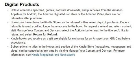 amazon return policy exles of no return no refund policies termsfeed