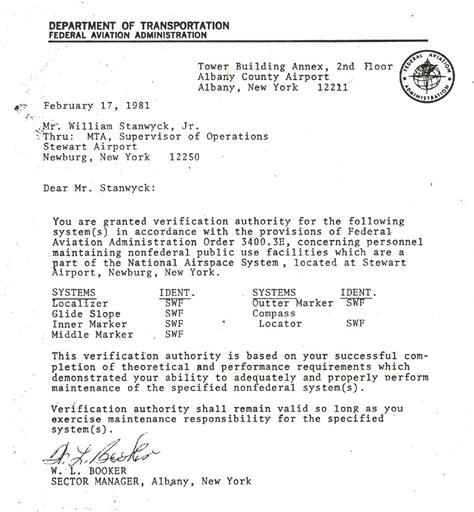 Service Letter Faa Stanwyck Avionics