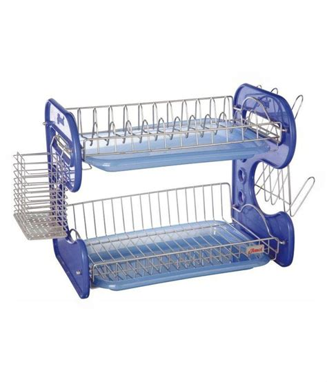 buy amol blue stainless steel dish rack at low