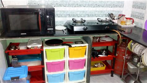 Indian Kitchen Organization by Kitchen Tour Small Indian Kitchen Organize Kitchen Without Cabinets