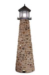 Outdoor Strobe Light Stone Lighthouse 5 To 12 Tall