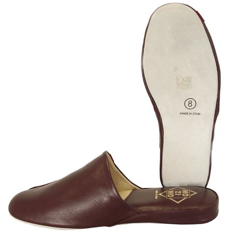 ross slippers relax mozimo ross mens leather slippers in wine colour