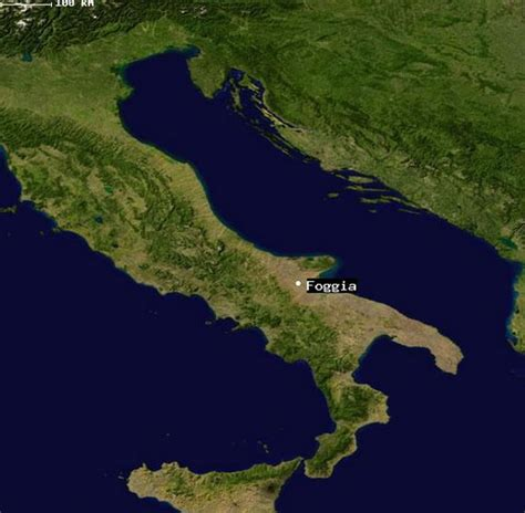 map of foggia italy foggia map and foggia satellite image