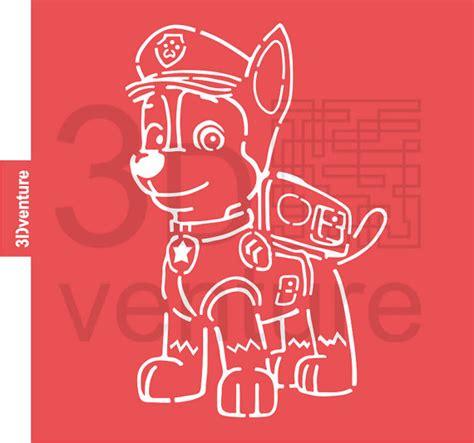 printable pumpkin stencils paw patrol paw patrol chase character cookie stencil cupcake stencil